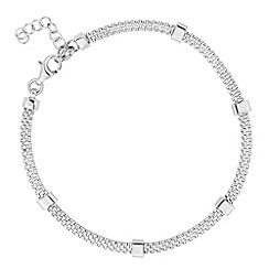 Simply Silver - Sterling silver bar mesh bracelet