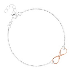 Simply Silver - Sterling silver two tone infinity link bracelet