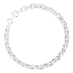 Simply Silver - Sterling silver polished chunky link bracelet