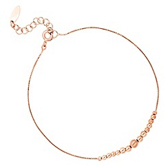 Simply Silver - Rose gold plated sterling silver mini ball bead bracelet