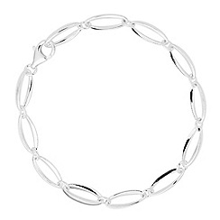 Simply Silver - Sterling silver polished oval link bracelet
