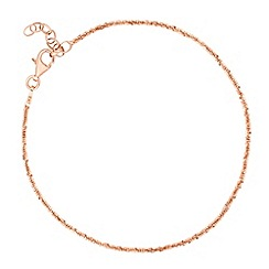 Simply Silver - Rose gold plated sterling silver margarita chain bracelet