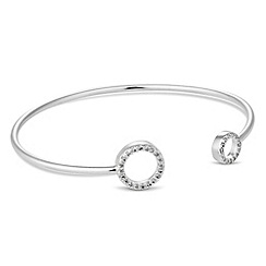 Simply Silver - Pave circle bangle