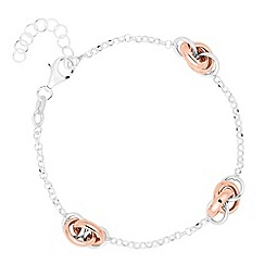 Simply Silver - Sterling silver signature two tone knot bracelet