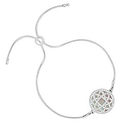 Simply Silver - Signature mother of pearl crystal overlay bracelet