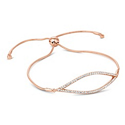 Simply Silver - Sterling silver signature rose gold toggle bracelet
