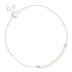 Simply Silver - Sterling silver pearl bracelet