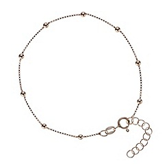 Simply Silver - Rose gold plated sterling silver bead bracelet