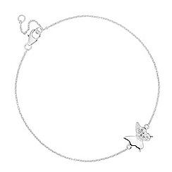 Simply Silver - Sterling silver crystal pave butterfly bracelet