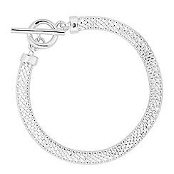 Simply Silver - Sterling silver mesh t bar bracelet