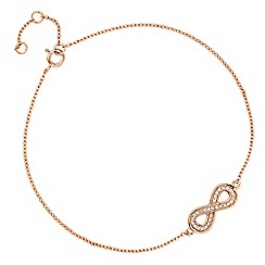 Simply Silver - Rose gold plated sterling silver infinity bracelet