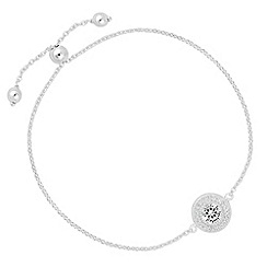 Simply Silver - Sterling silver cubic zirconia clara toggle bracelet