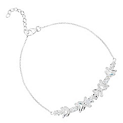 Simply Silver - Sterling silver cubic zirconia mixed stone cluster bracelet