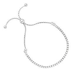 Simply Silver - Sterling silver box chain toggle bracelet