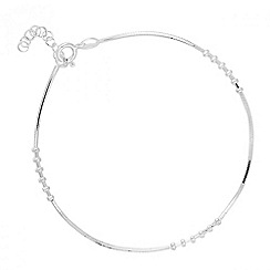 Simply Silver - Sterling silver spiral stations bracelet