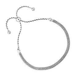 Simply Silver - Sterling silver popcorn toggle bracelet