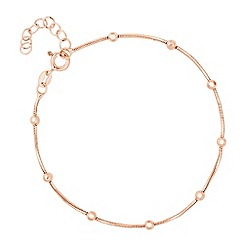 Simply Silver - Rose gold plated sterling silver bead station bracelet