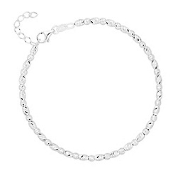 Simply Silver - Sterling silver oval beaded bracelet