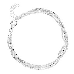 Simply Silver - Sterling silver spiral multi row bracelet
