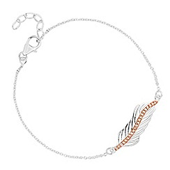 Simply Silver - Sterling silver two tone feather bracelet
