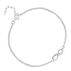 Simply Silver - Sterling silver pave infinity bracelet