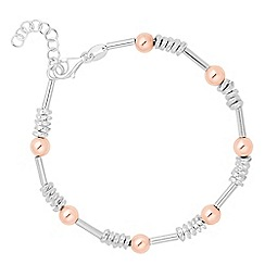 Simply Silver - Sterling silver two tone ball twist bracelet