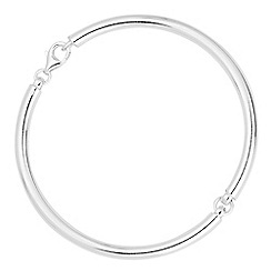 Simply Silver - Sterling silver segment bangle bracelet