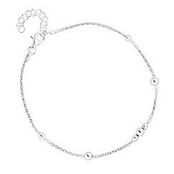 Simply Silver - Sterling silver chain and ball station bracelet