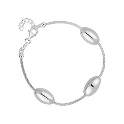 Simply Silver - Sterling silver bead station bracelet