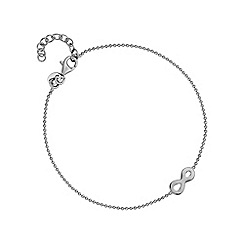 Simply Silver - Sterling silver infinity charm bracelet