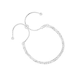 Simply Silver - Sterling silver multi row toggle bracelet