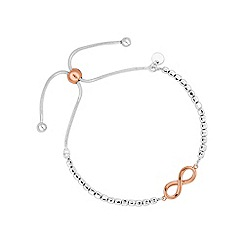Simply Silver - Sterling silver infinity toggle bracelet