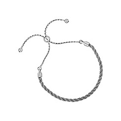 Simply Silver - Sterling silver twisted popcorn toggle bracelet
