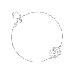 Simply Silver - Sterling silver filigree disc bracelet