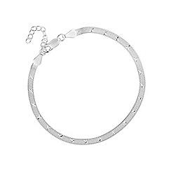 Simply Silver - Sterling silver star chain bracelet