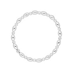 Simply Silver - Sterling silver multi textured bead bracelet