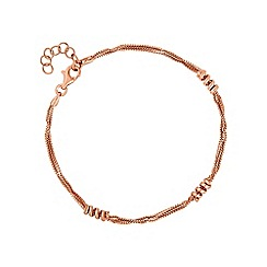 Simply Silver - Rose gold plated sterling silver spiral bracelet