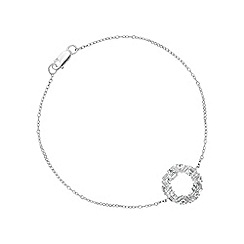 Simply Silver - Sterling silver multi cut open circle bracelet