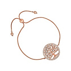 Simply Silver - Rose gold plated sterling silver tree of life bracelet