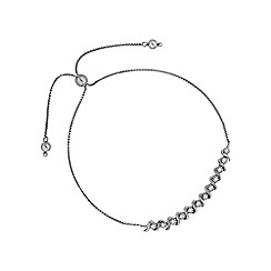 Simply Silver - Sterling silver swirl toggle bracelet