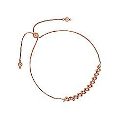 Simply Silver - Rose gold plated sterling silver toggle bracelet