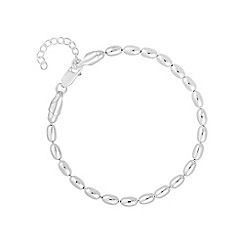 Simply Silver - Sterling silver oval bead bracelet