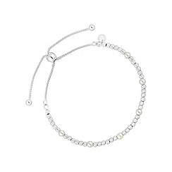 Simply Silver - Sterling silver pearl toggle bracelet