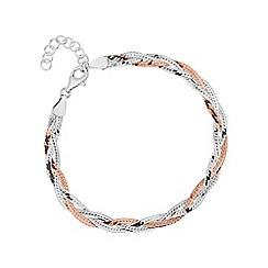 Simply Silver - Sterling silver plaited herringbone bracelet