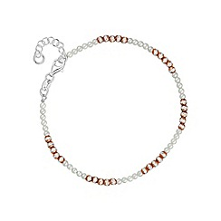 Simply Silver - Sterling silver bead and pearl bracelet