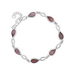 Simply Silver - Sterling silver infinity twist bracelet