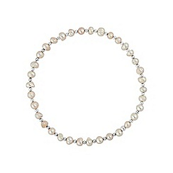 Simply Silver - Sterling silver freshwater pearl bracelet