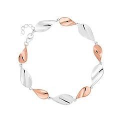 Simply Silver - Sterling silver multi tone twist bracelet