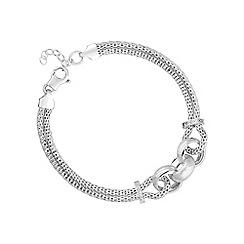 Simply Silver - Sterling silver interlinked circle statement bracelet