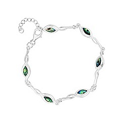 Simply Silver - Sterling silver abalone twist bracelet